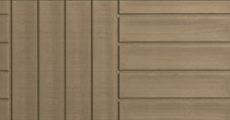 Duramaster Premium wood-look hot tub skirt in portabello color