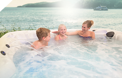 Master Spas hot tubs are fun for the whole family.