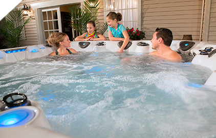 The legend series spas from Master Spas has everything you need for backyard entertainment